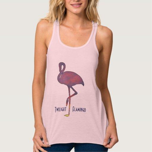 Twilight Flamingo Stylized Sunset Shirt