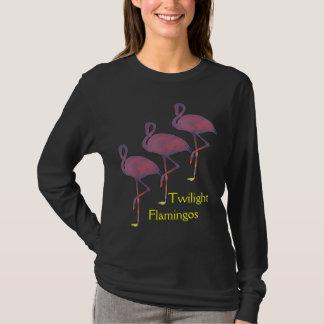 Twilight Flamingos Stylized Sunset Shirt