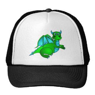 Twilight Flight - Cute Green & Blue Dragon Mesh Hat
