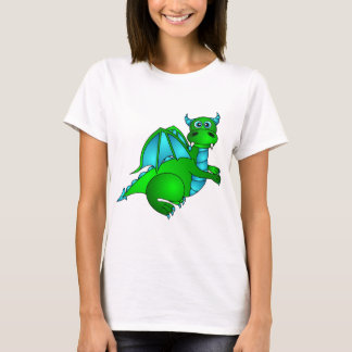 Twilight Flight - Cute Green & Blue Dragon T-Shirt
