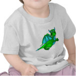Twilight Flight - Cute Green & Blue Dragon Tee Shirts