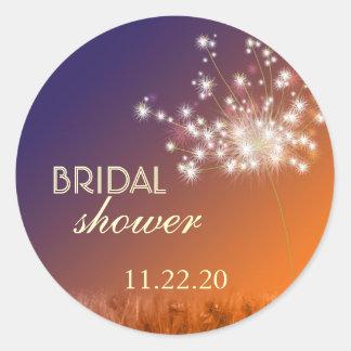 Twilight Garden Dandelion Bridal Shower Sticker