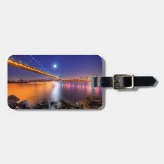 Twilight, George Washington BridgePalisades, NJ. Luggage Tag