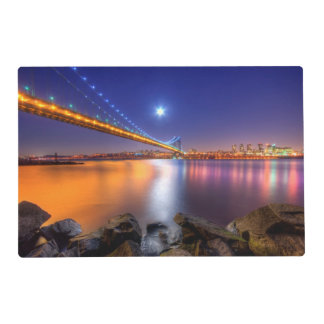 Twilight, George Washington BridgePalisades, NJ. Placemat