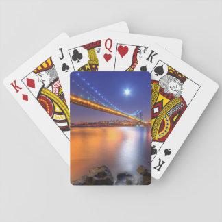 Twilight, George Washington BridgePalisades, NJ. Playing Cards