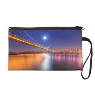 Twilight, George Washington BridgePalisades, NJ. Wristlet Purse