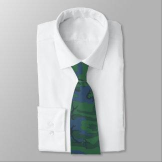 Twilight Green Camo Neck Tie