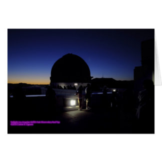 Twilight Griffith Park Observatory Roof Card