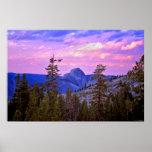 Twilight - Half Dome - Yosemite National Park Posters