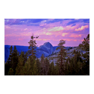 Twilight - Half Dome - Yosemite National Park Posters
