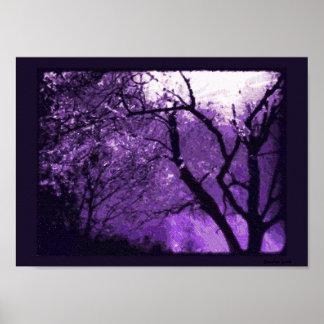 Twilight Haze -Purple trees contemporary art print
