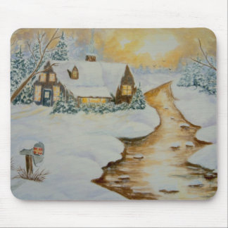Twilight Holiday Mouse Pad