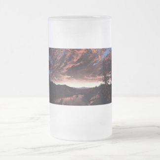 Twilight in the Wilderness by Frederick Church Frosted Glass Beer Mug