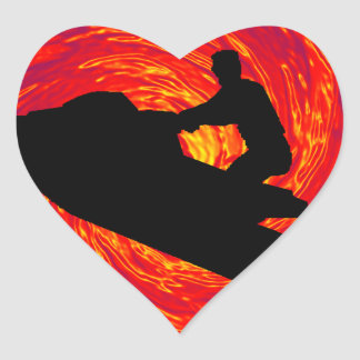 TWILIGHT JET SKI HEART STICKERS