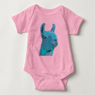 Twilight Llama, turqoise llama, llama head Infant Creeper