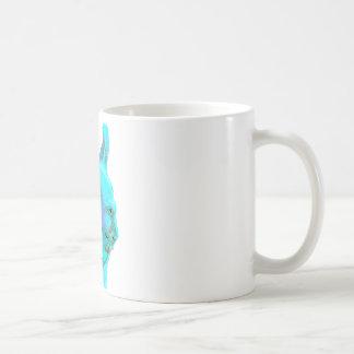 Twilight Llama, turqoise llama, llama head Coffee Mugs