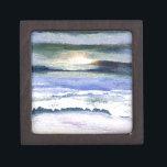 "Twilight Ocean Waves Beach Surf Decor Art Gift Box<br><div class=""desc"">Twilight Ocean Waves Beach Surf Decor Art CricketDiane Art and Design - Ocean Waves Paintings,  Seascapes,  Beach Art,  Twilight Sunset Sunrise Ocean Decor,  Sailing and Sailboats Art Decor</div>"