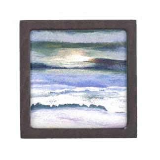 Twilight Ocean Waves Beach Surf Decor Art Gift Box