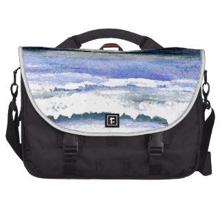 Twilight Ocean Waves Beach Surf Decor Art Bags For Laptop
