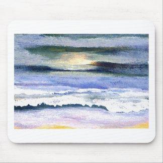 Twilight Ocean Waves Beach Surf Decor Art Mouse Pad