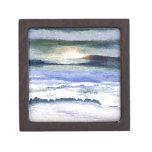Twilight Ocean Waves Beach Surf Decor Art Premium Jewelry Boxes