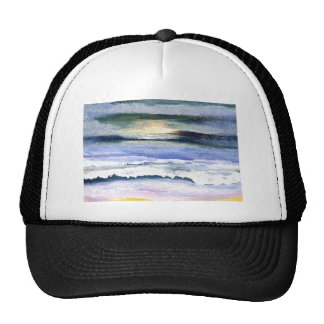 Twilight Ocean Waves Beach Surf Decor Art Trucker Hat