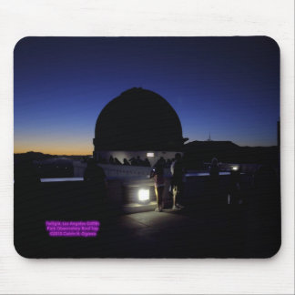 Twilight on Los Angeles Griffith Observatory Roof Mouse Pad