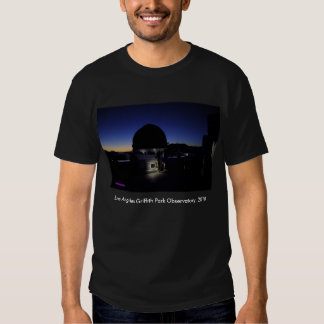 Twilight on Los Angeles Griffith Observatory Roof Tee Shirts