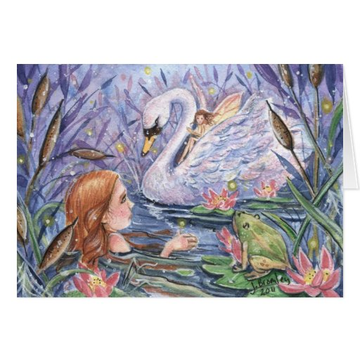 """Twilight on the Lake"" Card"