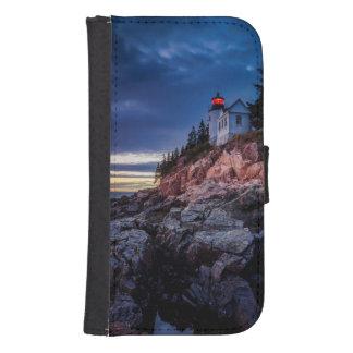 Twilight Over Bass Harbor Lighthouse, Acadia Phone Wallet