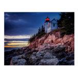 Twilight Over Bass Harbor Lighthouse, Acadia Post Card