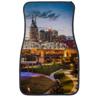 Twilight over Cumberland Park and downtown Car Floor Mat