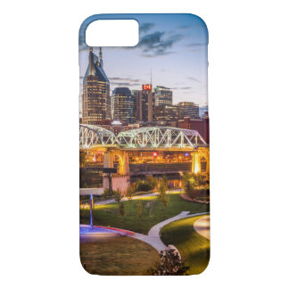 Twilight over Cumberland Park and downtown iPhone 8/7 Case
