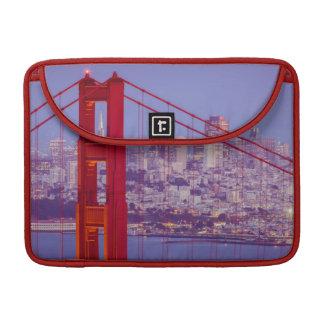 Twilight Over The Golden Gate Bridge Sleeve For MacBooks