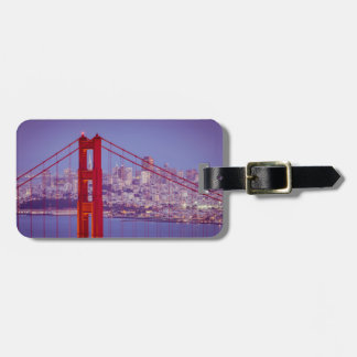 Twilight Over The Golden Gate Bridge Tag For Luggage