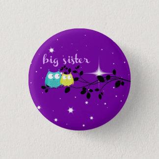 "twilight owl ""big sister"" button!!! pinback button"