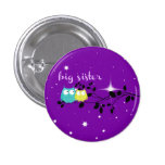 "twilight owl ""big sister"" button!!! pinback button"