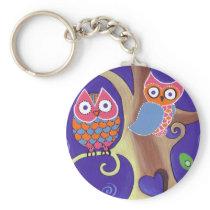 Twilight Owls Keychain