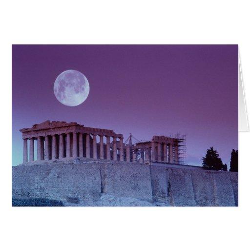 Twilight Parthenon Greeting Card