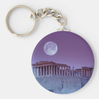 Twilight Parthenon Basic Round Button Keychain