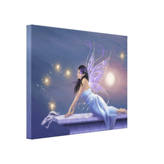 Twilight Shimmer Fairy Wrapped Canvas Print