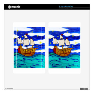 Twilight Ship Kindle Fire Decals
