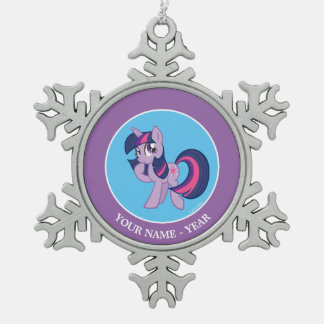Twilight Sparkle 2 Snowflake Pewter Christmas Ornament