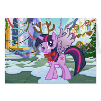 Twilight Sparkle Reindeer Card