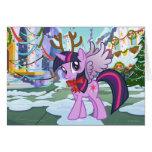 Twilight Sparkle Reindeer Greeting Card