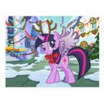 Twilight Sparkle Reindeer Postcard