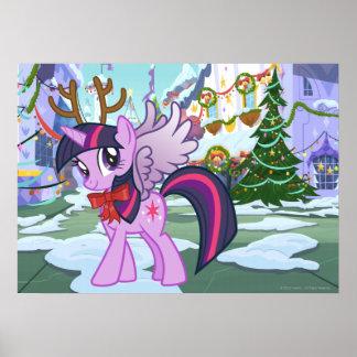 Twilight Sparkle Reindeer Poster
