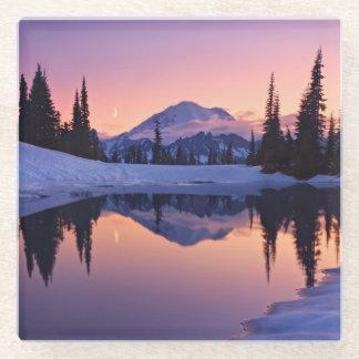 Twilight, Tarn and Crescent Moon Glass Coaster