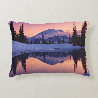 Twilight, Tarn and Crescent Moon Accent Pillow