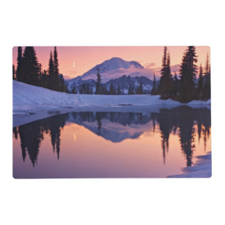 Twilight, Tarn and Crescent Moon Laminated Placemat